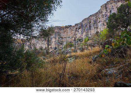 Ihlara Valley In Cappadocia. Ihlara Valley, Peristrema Monastery Or Ihlara Gorge Is The Most Famous