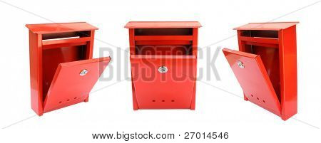 Open mailbox red