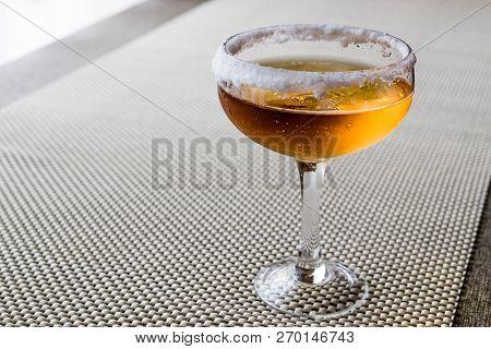 Sidecar Cocktail With A Sugar Rim.