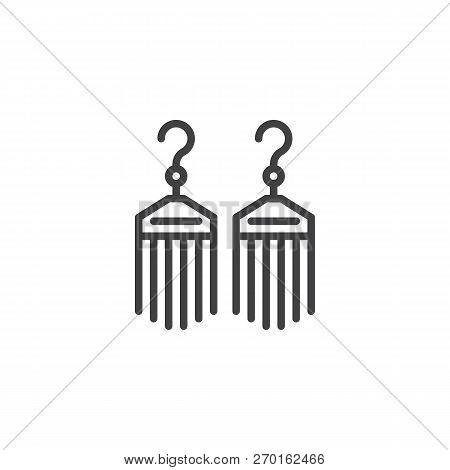Bijouterie Earrings Outline Icon. Linear Style Sign For Mobile Concept And Web Design. Female Jewelr