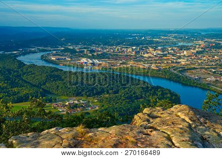View Of Chattanooga, Tennessee, From A High Point On Lookout Mountain