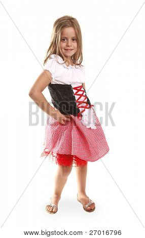 Lovely girl in costume