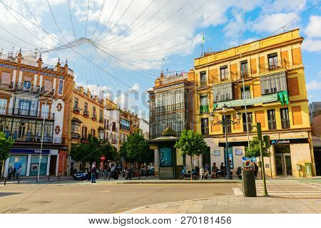 Junction In Triana District In Seville, Spain
