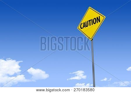 A Stylized 3d Illustration Of Yellow Street Sign Reading