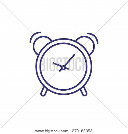 Ringing Alarm Clock Line Icon. Timer, Timepiece, Waking Up. Time Concept. Can Be Used For Topics Lik