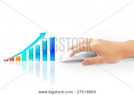 business on hand white background