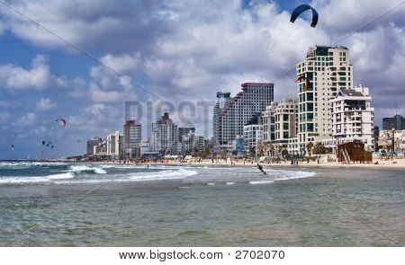 Beach In Tel-Aviv, Israel