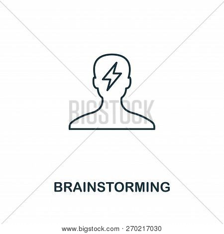 Brainstorming Icon. Outline Style Thin Design From Business Icons Collection. Pixel Perfect Simple P