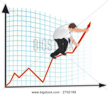 Man On A Business Graph