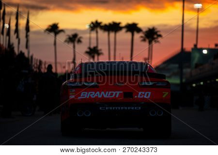 November 16, 2018 - Homestead, Florida, USA: Justin Allgaier (7) heads in from practice for the Ford 300 at Homestead-Miami Speedway in Homestead, Florida.