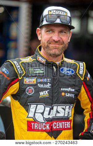 November 16, 2018 - Homestead, Florida, USA: Clint Bowyer (14) gears up to practice for the Ford 400 at Homestead-Miami Speedway in Homestead, Florida.