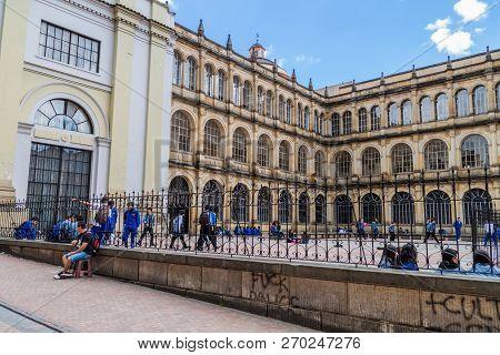 Bogota, Colombia - September 24, 2015: College Of St. Bartholomew Colegio Mayor De San Bartolome In