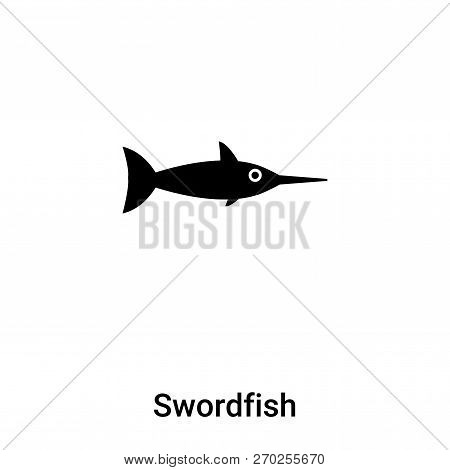 Swordfish Icon Vector Isolated On White Background, Logo Concept