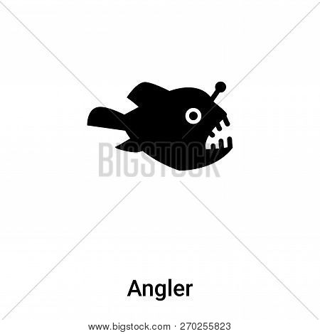 Angler Icon Vector Isolated On White Background, Logo Concept Of