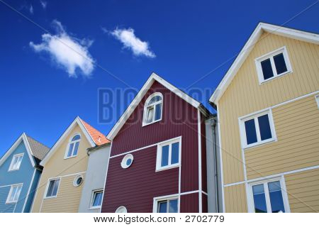 Four Colorful Houses