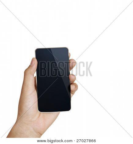 3D Handy in der hand