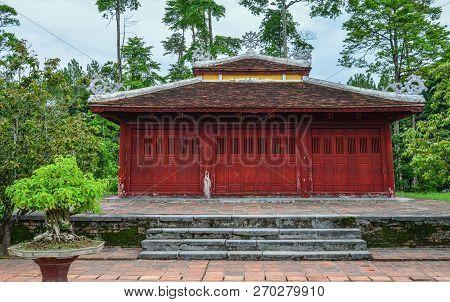 Hue, Vietnam - Apr 4, 2018. Thien Mu Pagoda In Hue, Vietnam. Hue Is A City In Central Vietnam That W