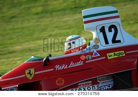 Mugello, It, November, 2007: Unknown Run With Historic Ferrari F1 312t Ex Niki Lauda During Finali M