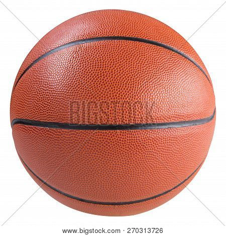 Rubber Orange Basketball Ball, On A White Background, Isolate