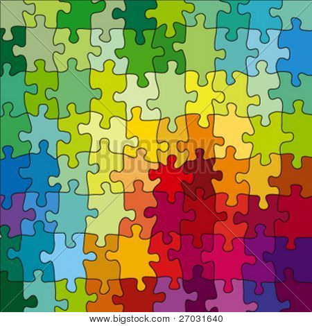 color puzzle, vector illustration