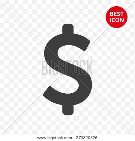 Modern Icon Dollar. Symbol Saving Money. Flat Concept. Financial Relation And Stock Exchange. For Mo