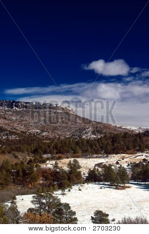 Snow On The Colorado Plateau Mountains