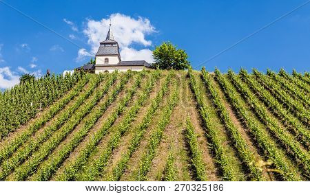 Laurentiuskapelle In Trittenheim At The Moselle Rhineland-palatinate Germany.