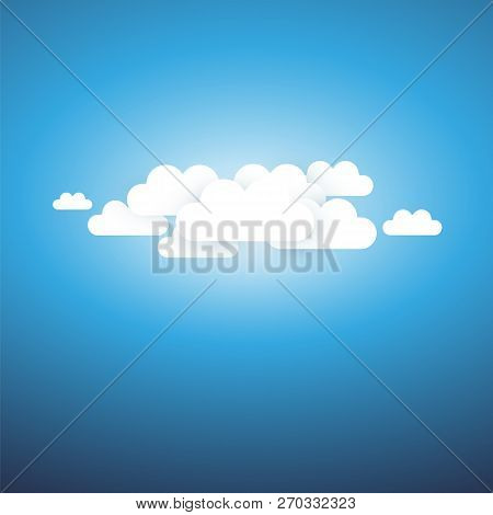Abstract Cloudy Sky, Sunshine Background - Template For Posters, Flyers, Postcards, Headers Or Web B