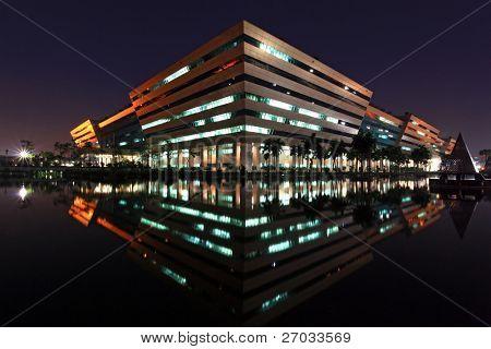 BANGKOK- DEC 20 :Government Complex Building shines at Night in Bangkok Thailand on Dec 20.2010 in Bangkok. Government Complex has 34 government units located at Chaeng Wattana St. in Bangkok.