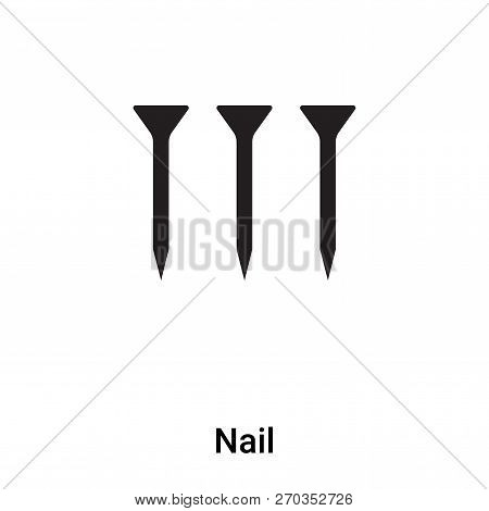 Nail Icon Vector Isolated On White Background, Logo Concept Of N