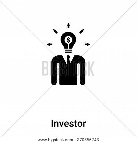 Investor Icon Vector Isolated On White Background, Logo Concept