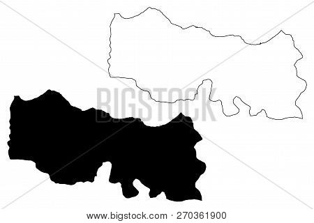 Trabzon (provinces Of The Republic Of Turkey) Map Vector Illustration, Scribble Sketch Trabzon Ili M