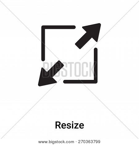Resize Icon Vector Isolated On White Background, Logo Concept Of