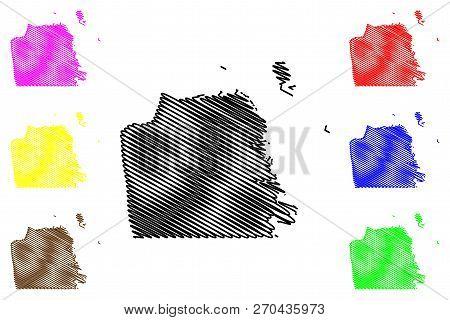 San Francisco City ( United States Cities, United States Of America, Usa City) Map Vector Illustrati
