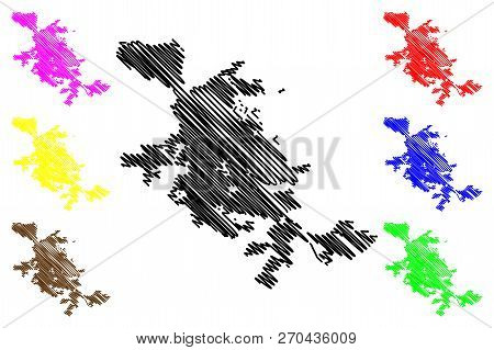 San Jose City ( United States Cities, United States Of America, Usa City) Map Vector Illustration, S