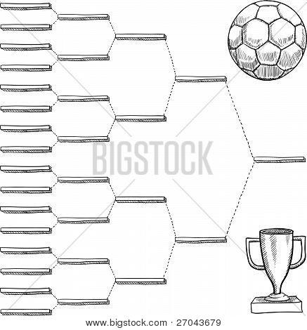 Soccer playoff bracket