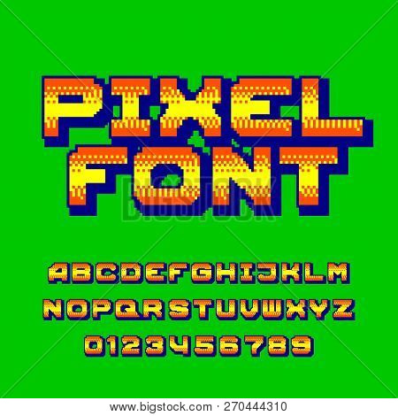 Pixel Alphabet Font  Vector & Photo (Free Trial) | Bigstock