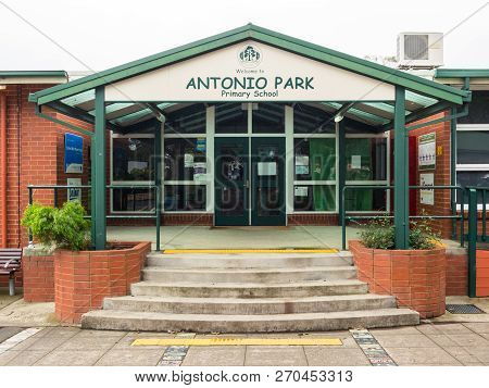 Melbourne, Australia - November 19, 2017: Antonio Park Primary School Is A Public Elementary School