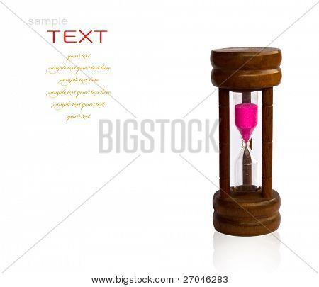 Hourglass isolated on white background.