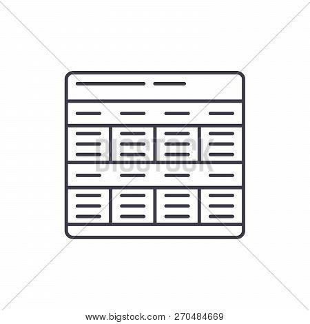 Business Model Line Icon Concept. Business Model Vector Linear Illustration, Symbol, Sign