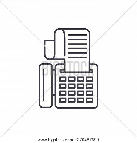 Cash Machine Line Icon Concept. Cash Machine Vector Linear Illustration, Symbol, Sign