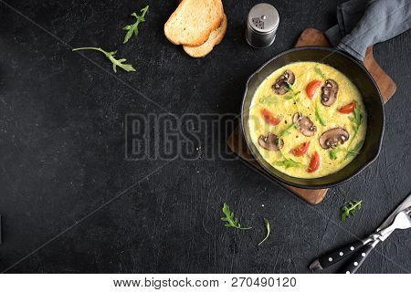 Omelette With Mushrooms And Vegetables
