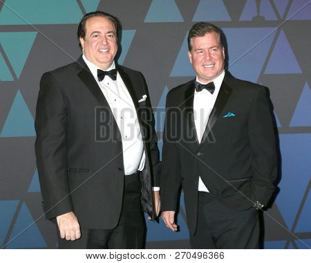 LOS ANGELES - NOV 18:  Nick Vallelonga, Brian Hayes at the 10th Annual Governors Awards at the Ray Dolby Ballroom on November 18, 2018 in Los Angeles, CA