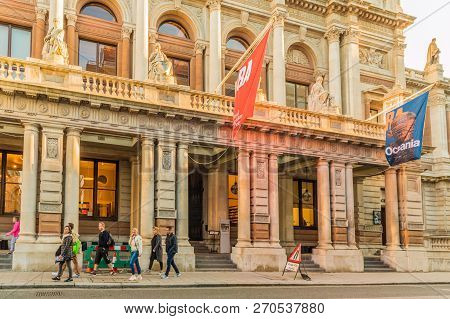 London. November 2018. A View Of The Royal Academy Of Arts At Burlington House In London