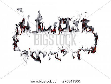 Smoke frame isolated on white background