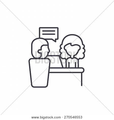Directors Orders Line Icon Concept. Directors Orders Vector Linear Illustration, Symbol, Sign