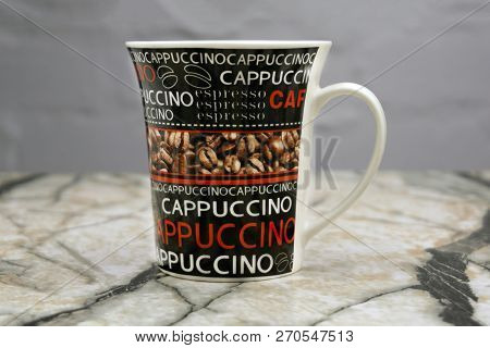 Painted Mug With A Photo Of Coffee Russia Berezniki 18 April 2018