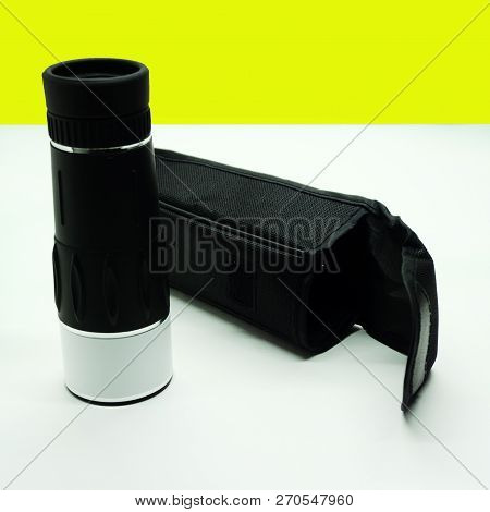 Military Monocular On White Background War Warrior