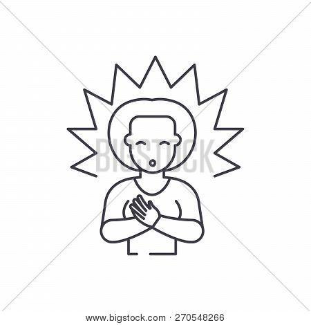 Enlightenment line icon concept. Enlightenment vector linear illustration, symbol, sign poster