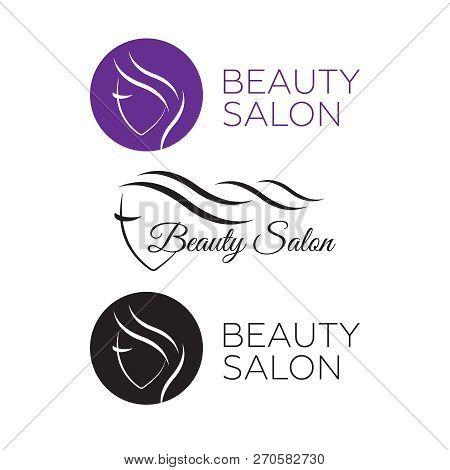 Logo Template For Hair Salon, Beauty Salon, Cosmetic Procedures, Spa Center. Beauty Logo For Hair Sa